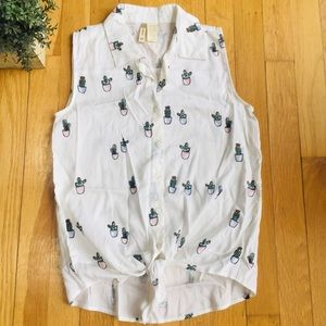 Tops - 🌟🌵🎉HOST PICK🎉🌵Cactus Button-Up Tank🌵🌟